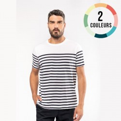 T-SHIRT MARIN COL ROND HOMME